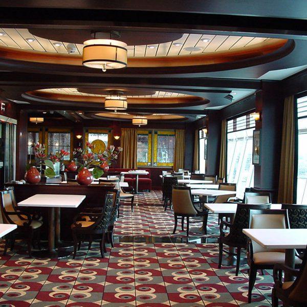 Freedom luokan risteilijän ravintola. Asennus- ja viimeistelykohde.
